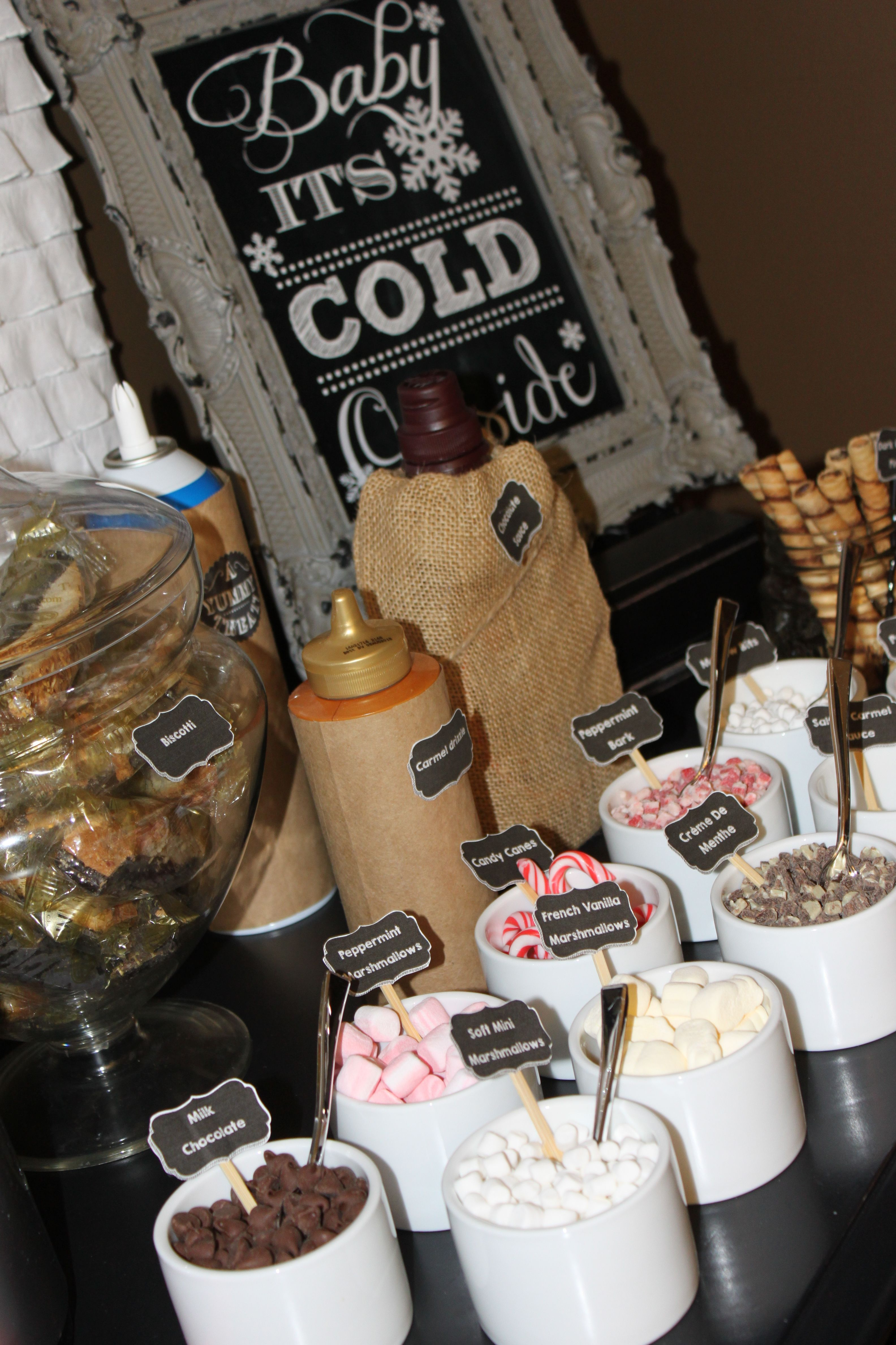 Baby its cold outside hot chocolate bar hot chocolate