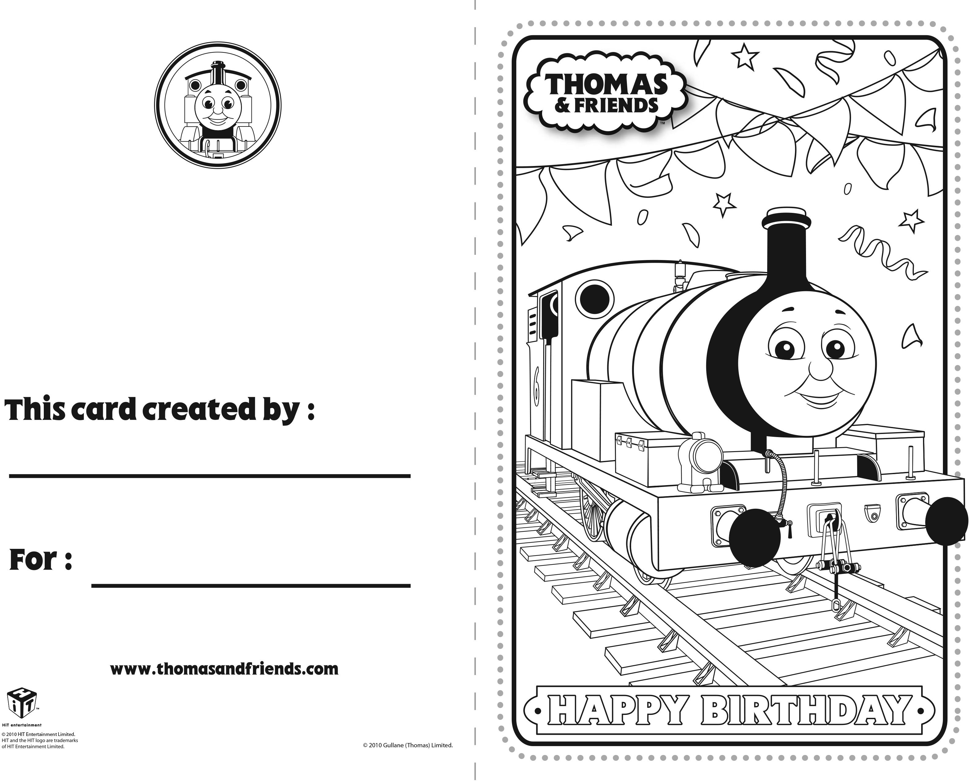 Thomas And Friends Birthday Card Percy Thomasandfriends