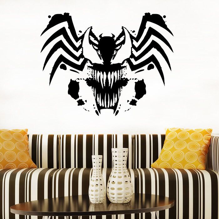 venom logo wall decal venom vinyl sticker superhero wall on wall logo decal id=44862
