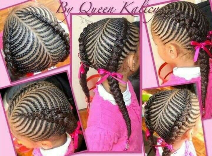 Fishbone Kiddie Braids African Braids Hairstyles Kids Braided Hairstyles Little Girl Braid Hairstyles