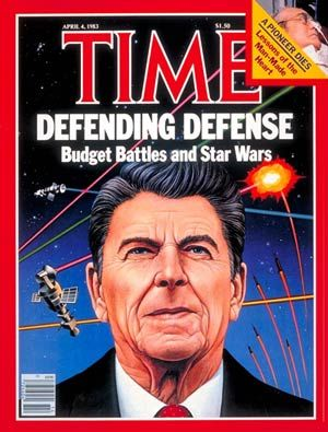 Image result for president ronald reagan's ''star wars'' program newspaper articles