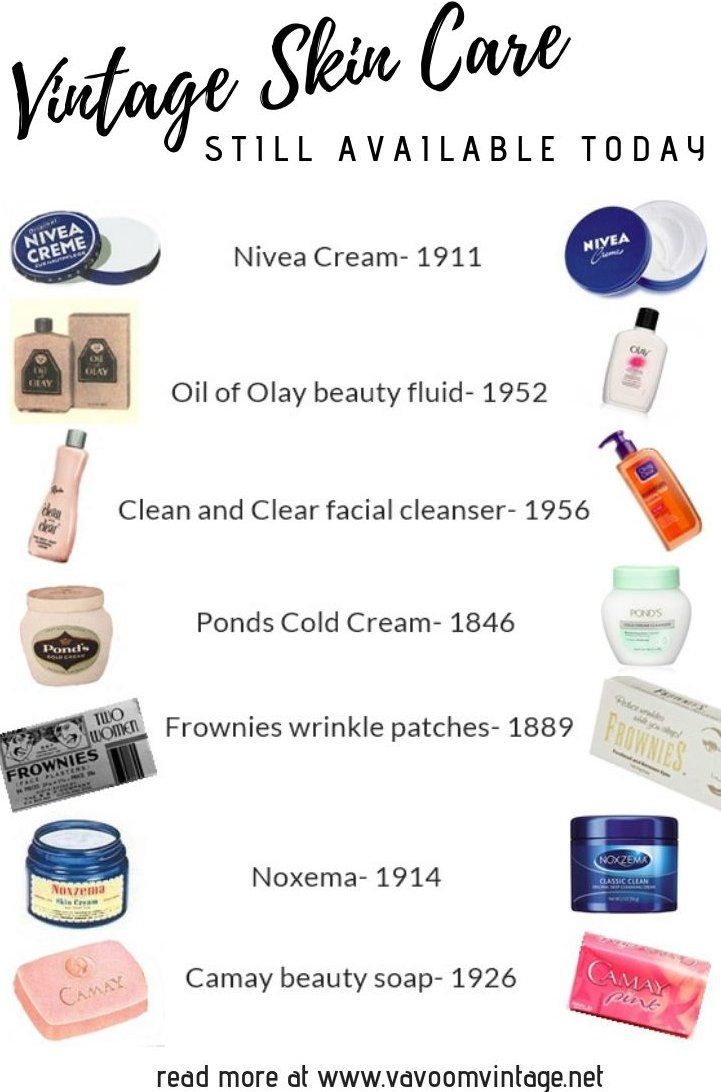 Vintage Skin Care Products That You Can Still Buy -