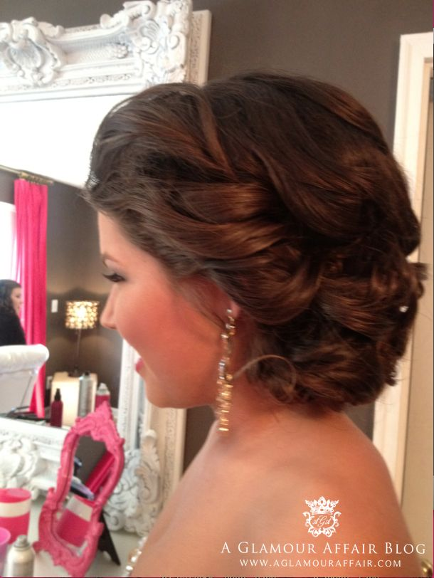 Updo For Homecoming Court On One Of Our Favorite And Best Customers Shelby Prom Hair Bridal Updo Wedding Hair Bridal Updo Wedding Hair And Makeup Prom Hair
