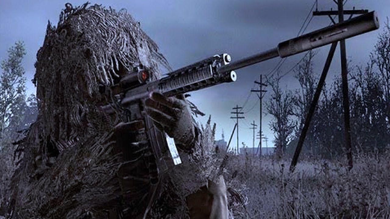 Top 10 Video Game Snipers Gaming Videogames Rifles Snipers Top10 Modern Warfare Call Of Duty Ghillie Suit