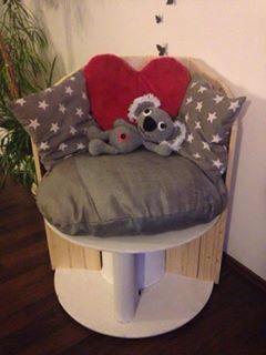 sessel aus einer kabeltrommel meine werke pinterest. Black Bedroom Furniture Sets. Home Design Ideas