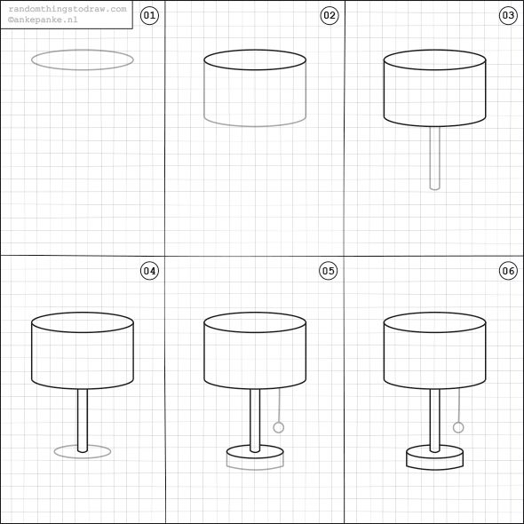 Superb How To Draw A Lamp.