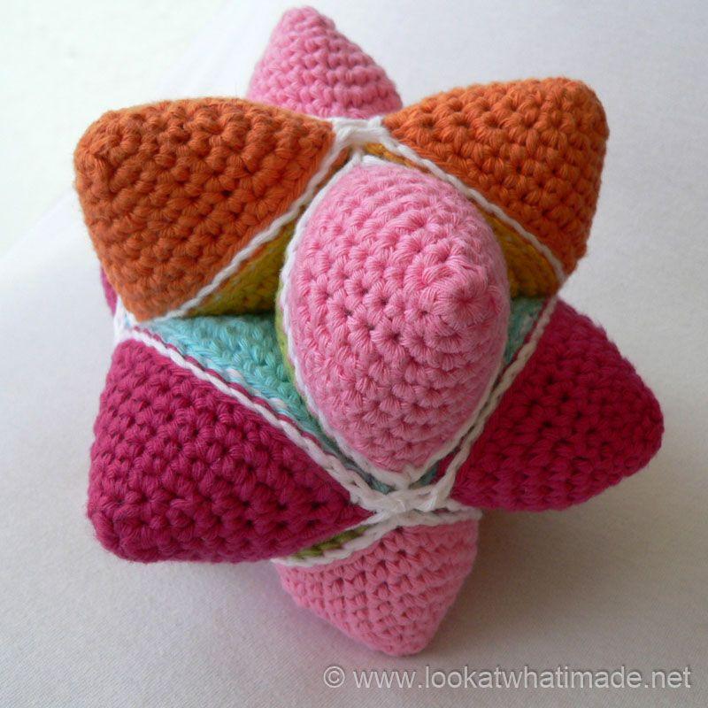 Crochet bola de la estrella Crochet Amish Puzzle Ball | Amigurumi 5 ...
