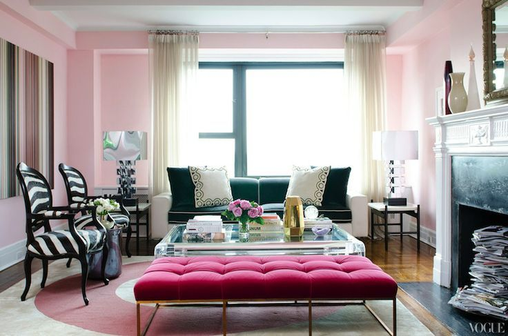 Vogue - living rooms - hot pink, tufted bench, velvet bench, velvet tufted bench, living room bench, velvet living room bench, tufted living...