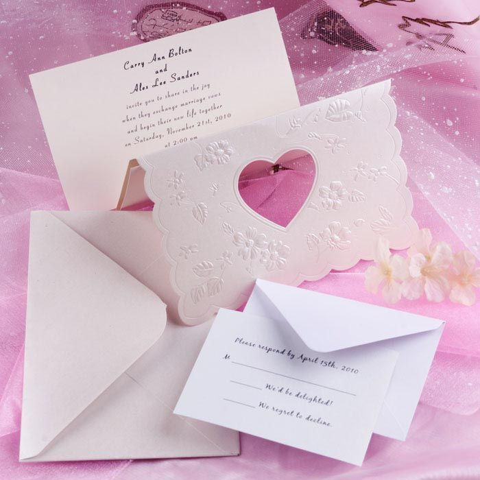 unique modern art deco heart laser cut tri fold affordable wedding ...