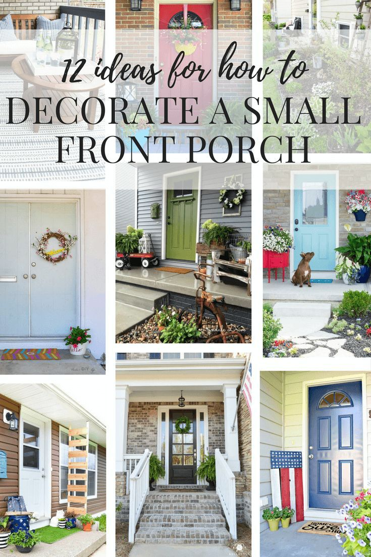 Ideas for decorating a small porch or front entry. Easy DIY
