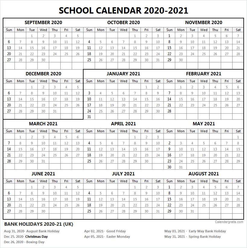 2020 2021 School Calendar Template Academic Calendar 2020 21 In 2020 School Calendar Academic Calendar Calendar 2020