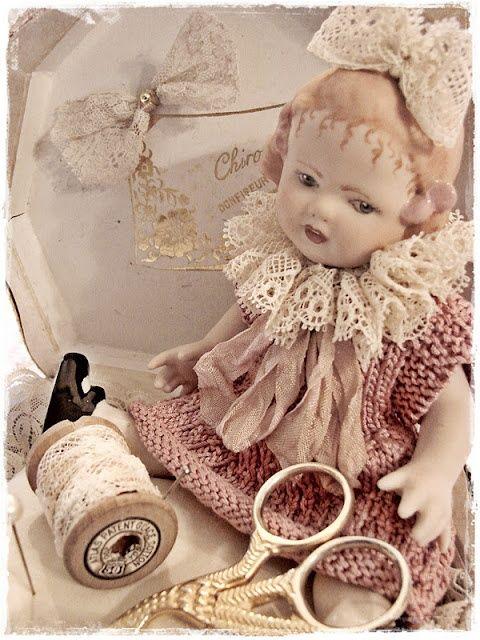 A Kindred Spirit — (via vintage doll she made her dolls clothes |...