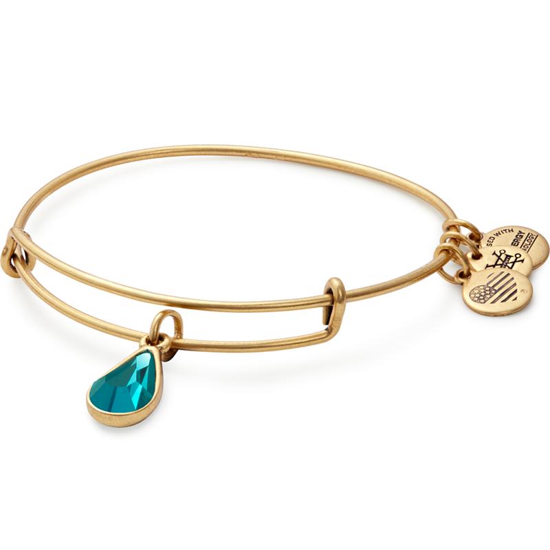 05e1db8ac December Birth Month Charm Bangle With Swarovski® Crystal (gold) in ...