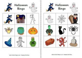 heres a printable halloween bingo game with some really fun illustrations that the kids will enjoy
