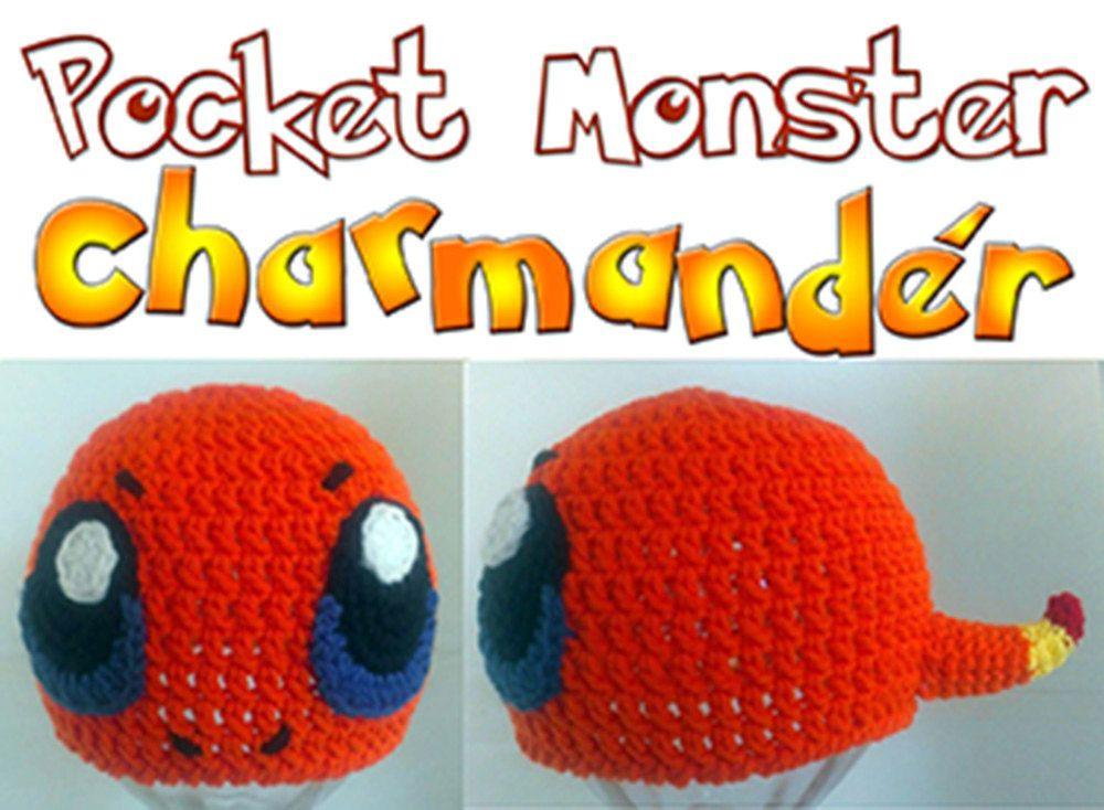 Charmander Pokemon Inspired Crochet Beanie Earflap Hat Pattern ALL ...