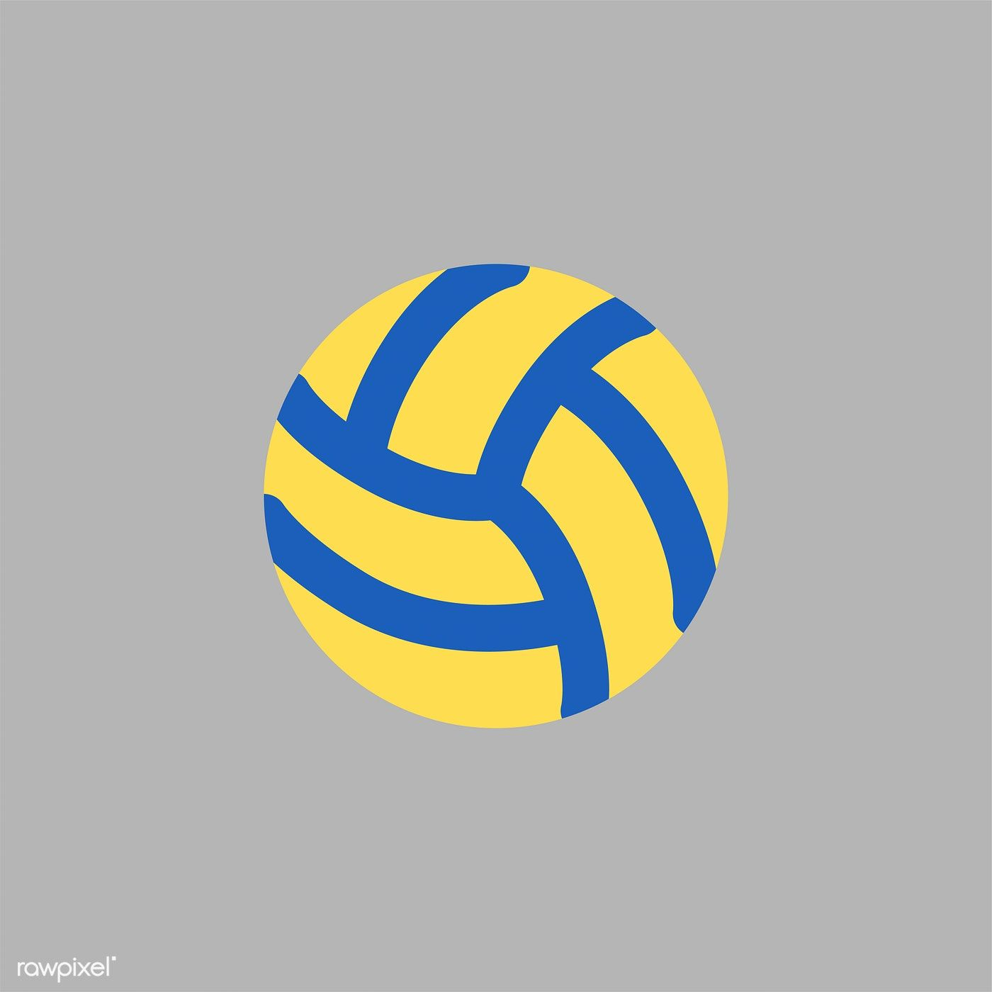 Illustration Of Volleyball Icon Free Image By Rawpixel Com Sport Illustration Volleyball Illustration