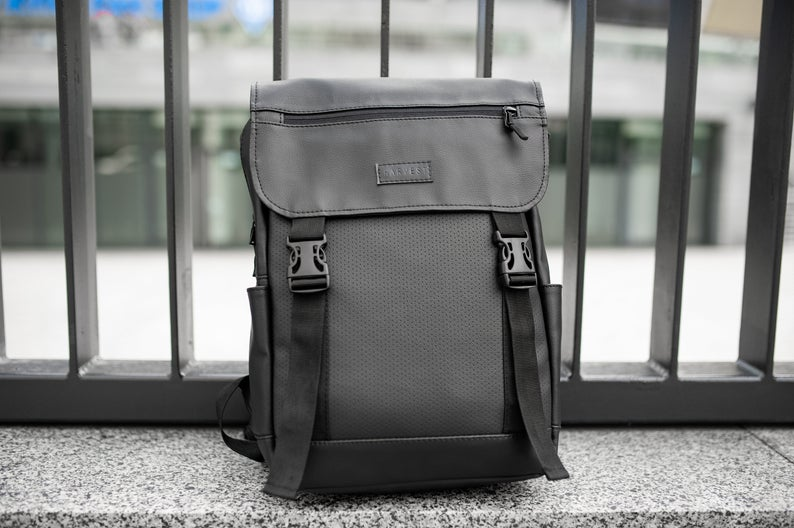 Backpack mens Black Backpack City Backpack Gift For Men