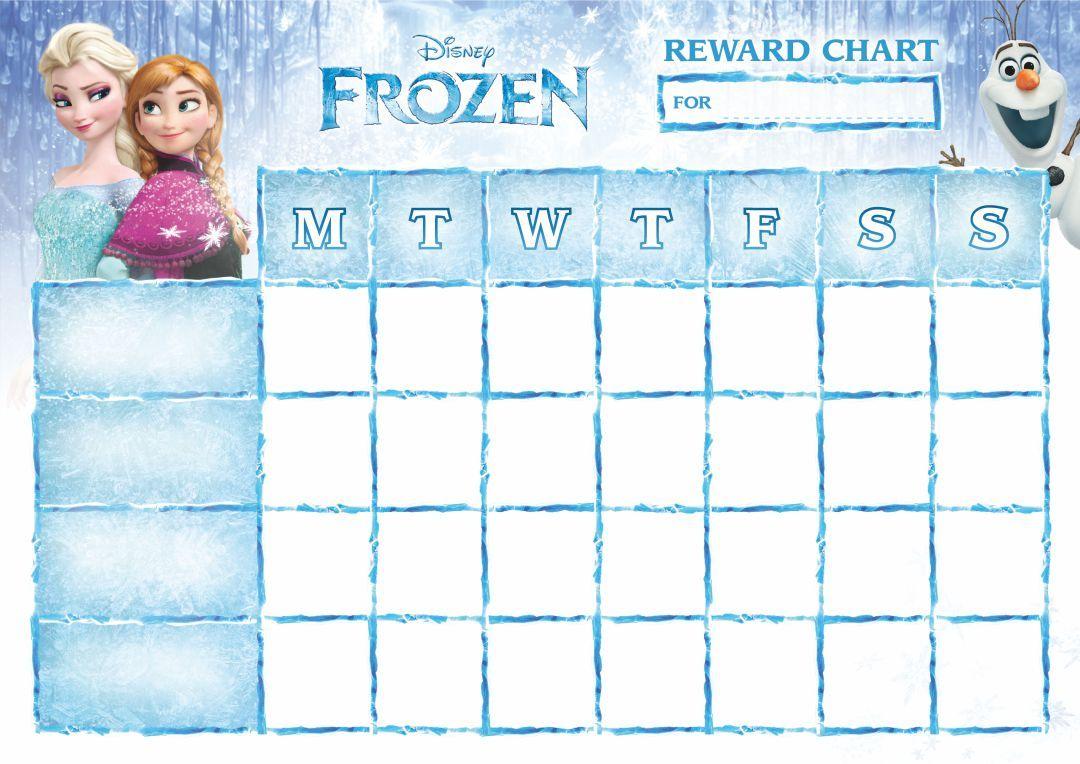 Frozen Printable Potty Training Chart Sticker Chart Printable Potty Training Chart Chart