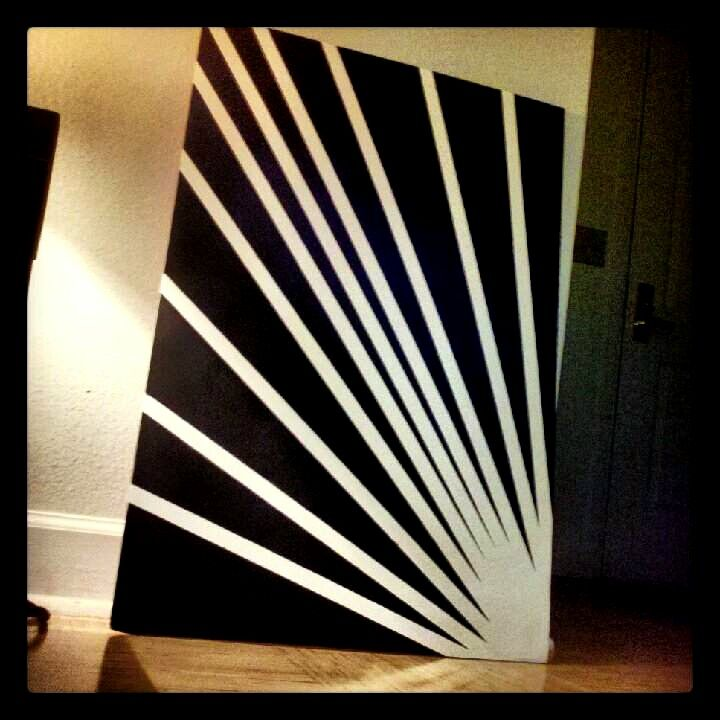 Foam Board Spray Paint Masking Tape Tape Wall Art Masking