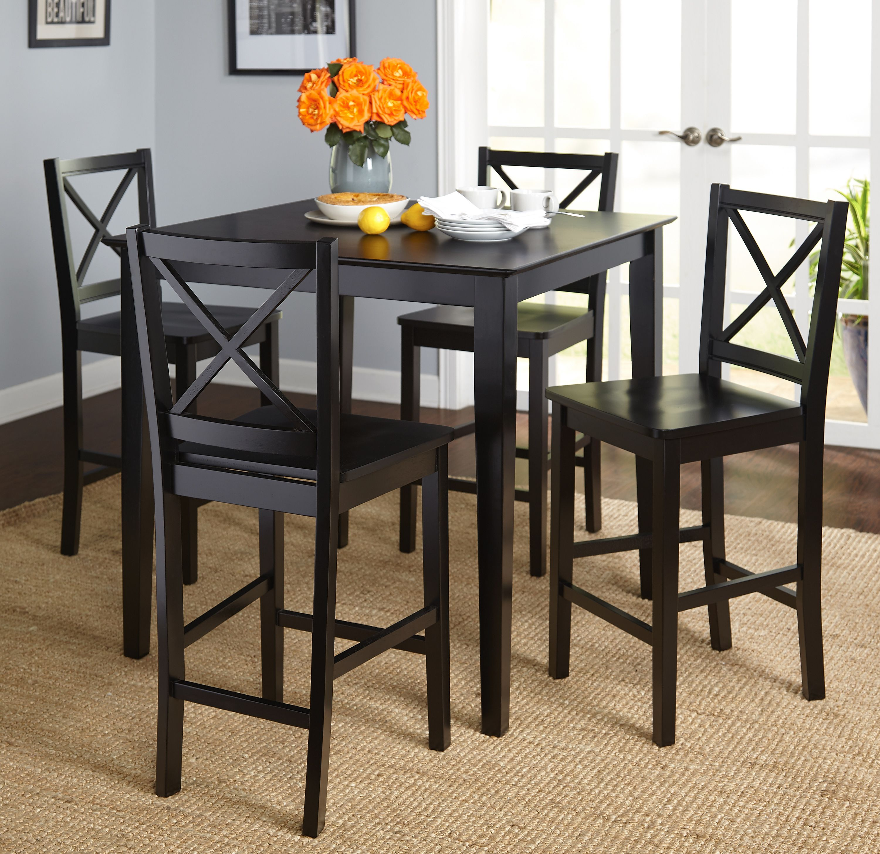 Home Dining Room Bar Counter Height Dining Sets Table And Chairs