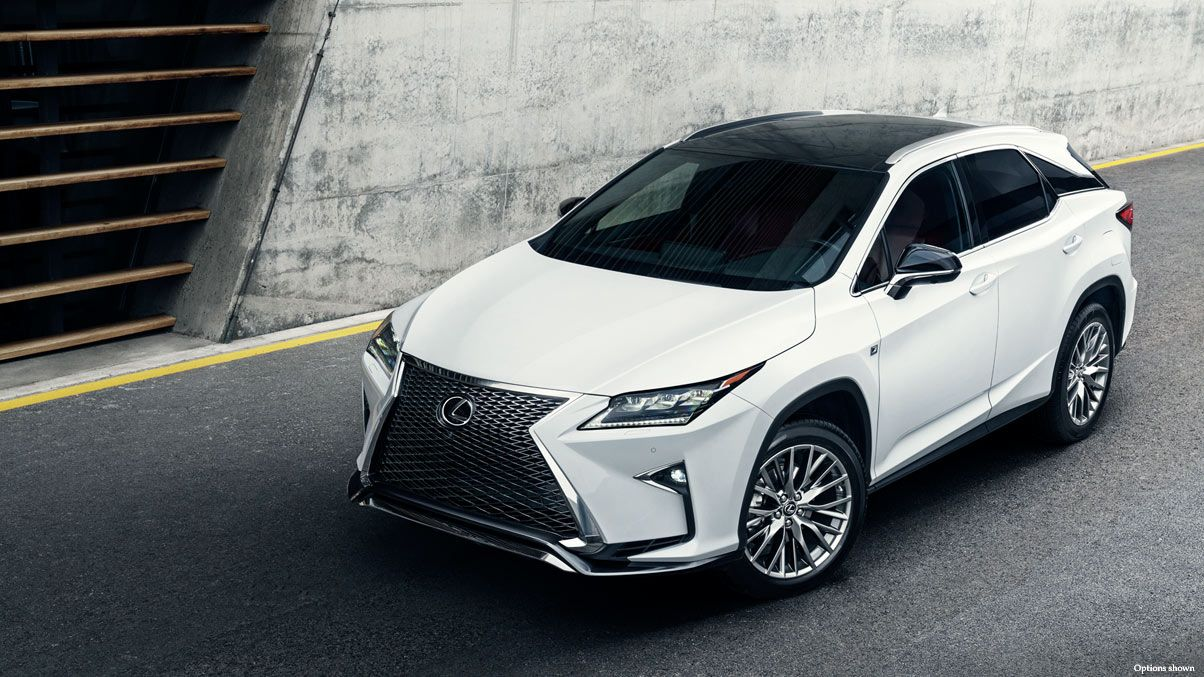 Exterior shot of the 2017 Lexus RX F Sport shown in Ultra