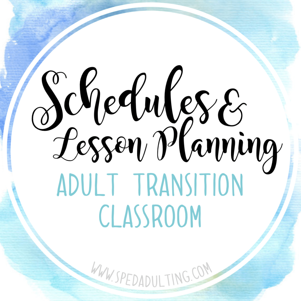 Blog Schedules And Lesson Planning In An Adult Transition