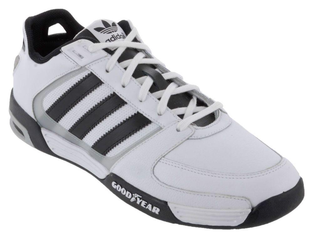 Adidas originali ragazzi ragazze formatori goodyear autista di pelle bianca