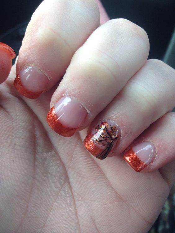 50 Autumn Fall Nail Colors Design To Follow Trends Autumn Nails Fall Nail Colors Fall Nail Designs