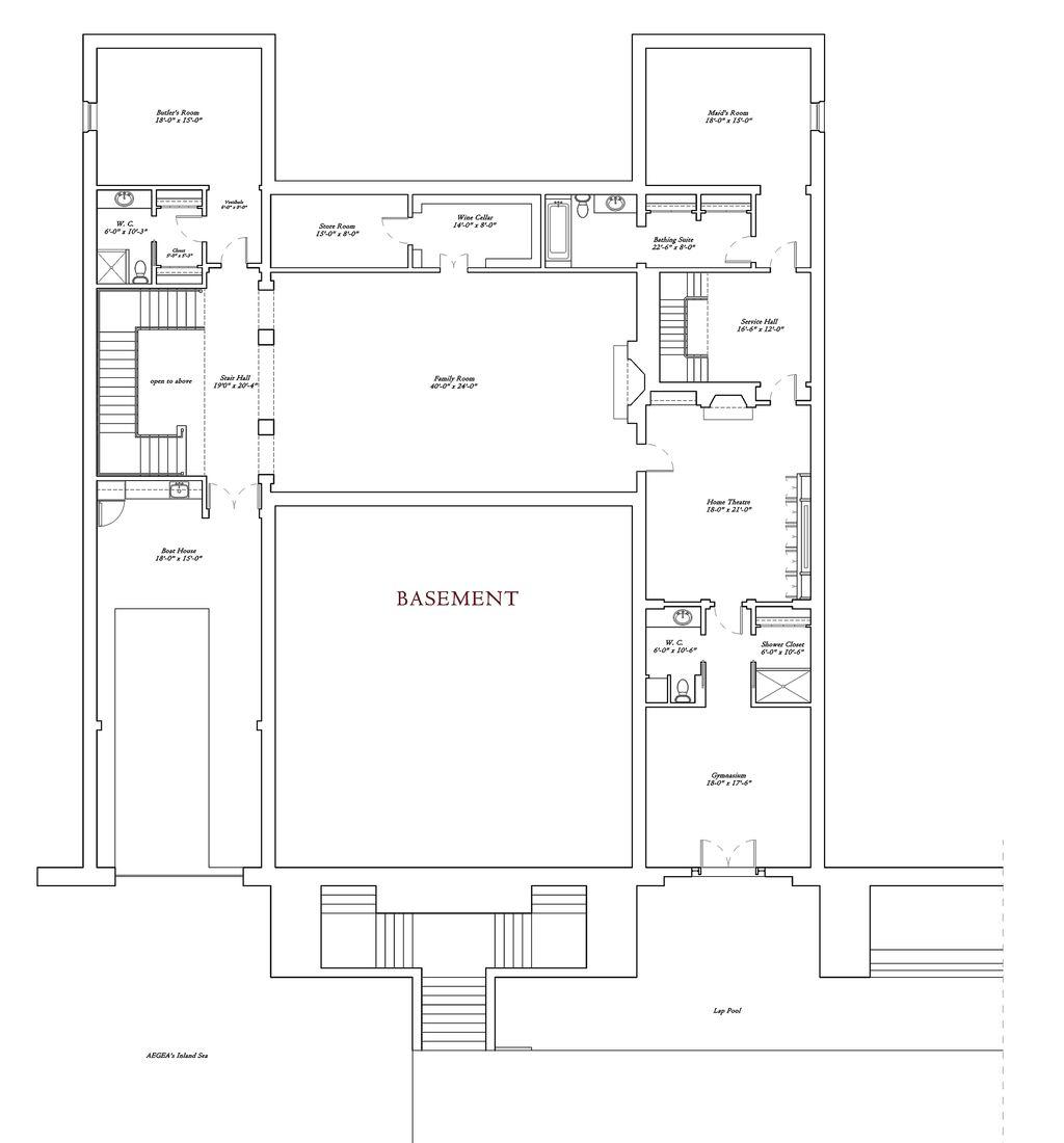 Mediterranean Style House Plan 6 Beds 10 5 Baths 16235