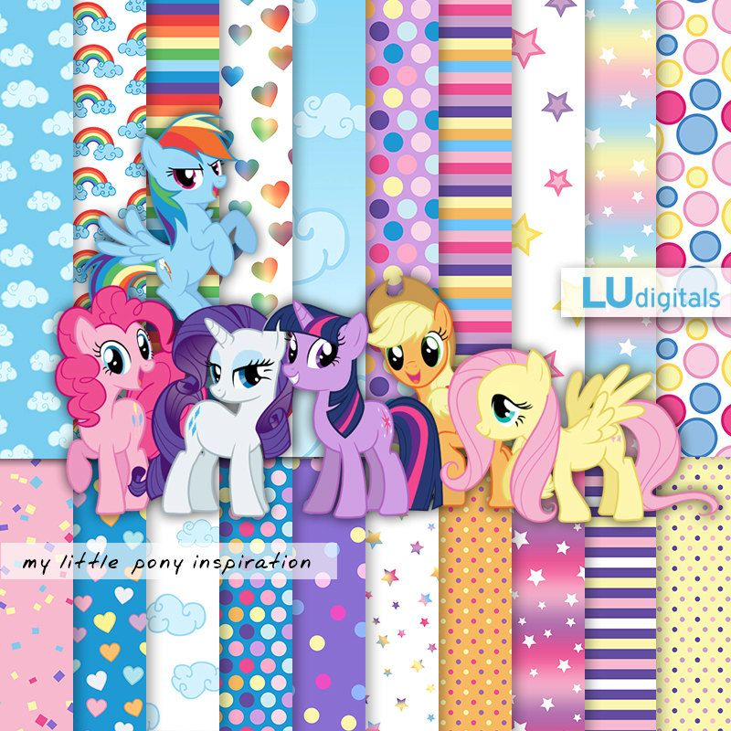 Pony digital paper my little pony digital paper pattern