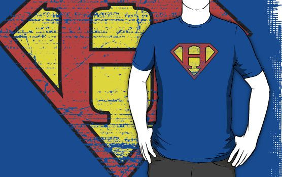 Super Vintage Initial Logo tshirts by redbubble...lots of colours available!