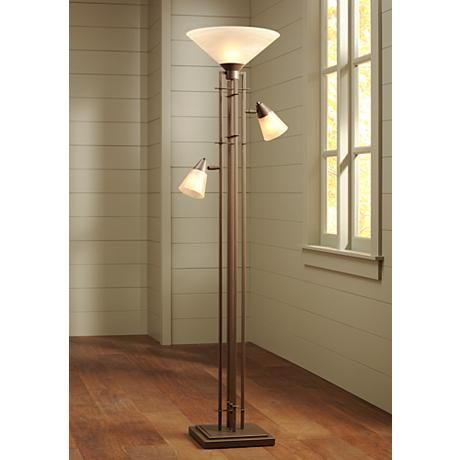 Metro Collection 3 In 1 Torchiere Floor Lamp 27340 Lamps Plus Torchiere Floor Lamp Floor Lamp Floor Standing Lamps