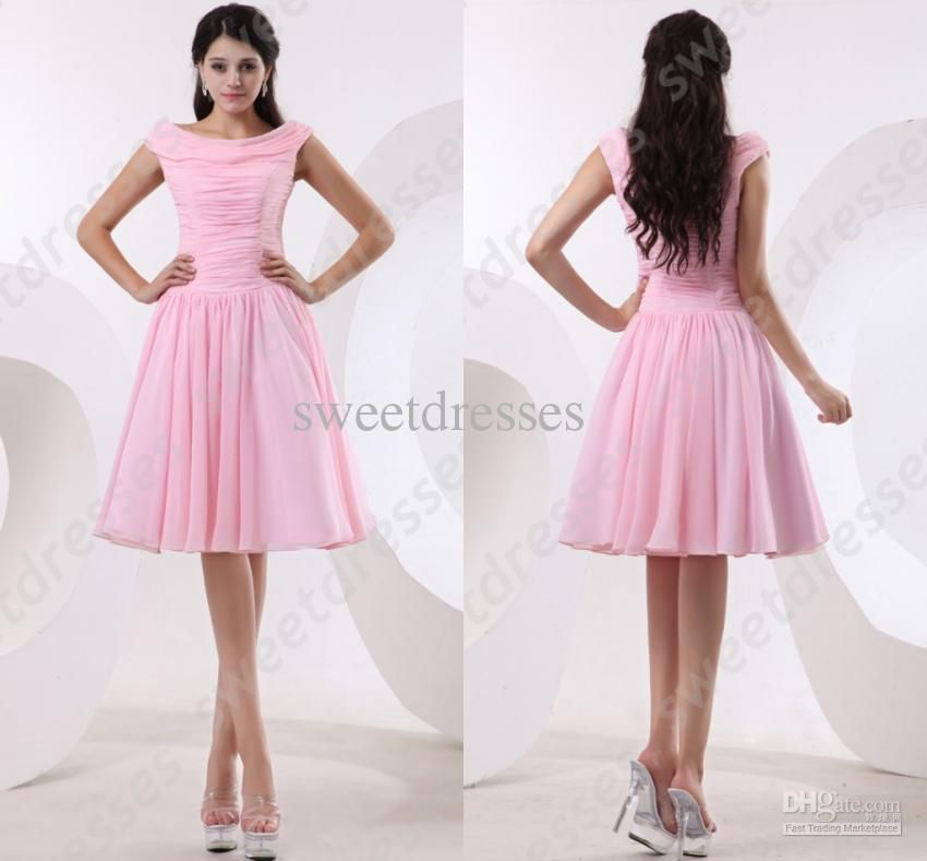 Short Pink Lace Prom Dresses Sheer Neck Backless With Crystal Body ...