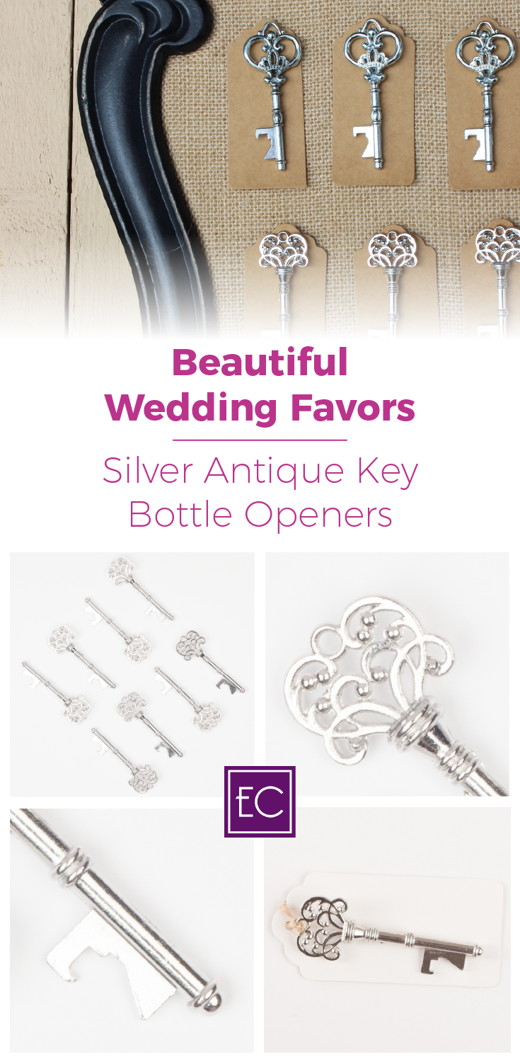 50 Assorted Key Bottle Openers - Antique Silver | Unique wedding ...