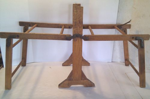 Antique Lovell Mfg Wood Folding Double