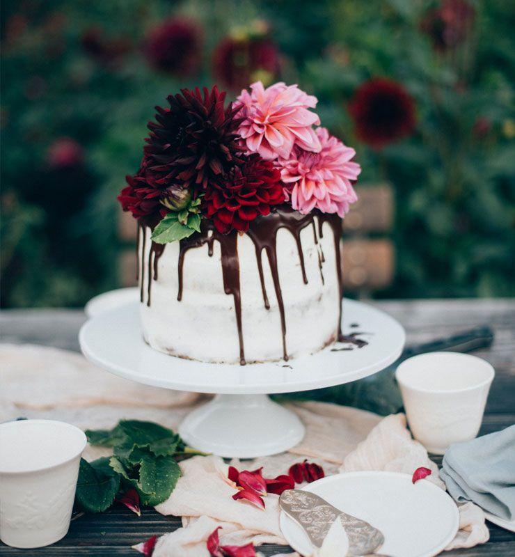 silvia fischer echte kuchenliebe rezept f r drip cake torte mit frischen blumen herbst. Black Bedroom Furniture Sets. Home Design Ideas