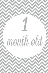 Free Printable Baby Monthly Milestone Signs In Grey Baby