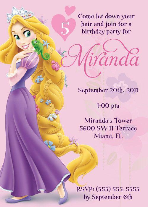 tangled invite Free Printables parties Invitation Pinterest