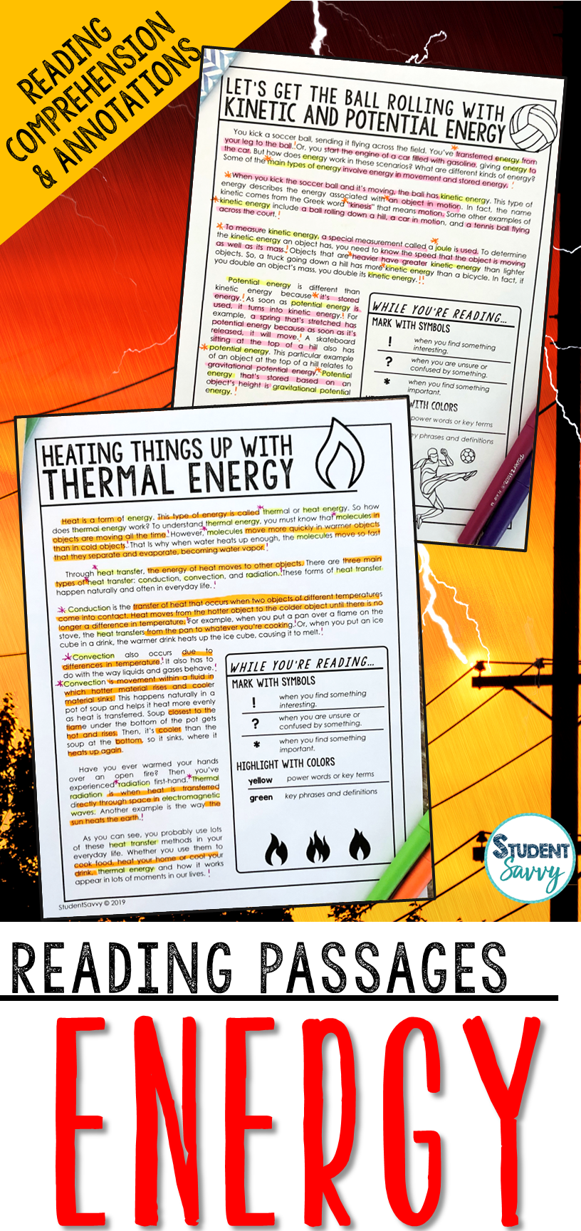 Energy Reading Passages Reading Passages Life Science Lesson Plans This Or That Questions [ 1728 x 816 Pixel ]