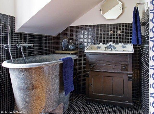 1000 images about salle de bain on pinterest shabby chic bathrooms ladder and bath - Photo Salle De Bain Ancienne