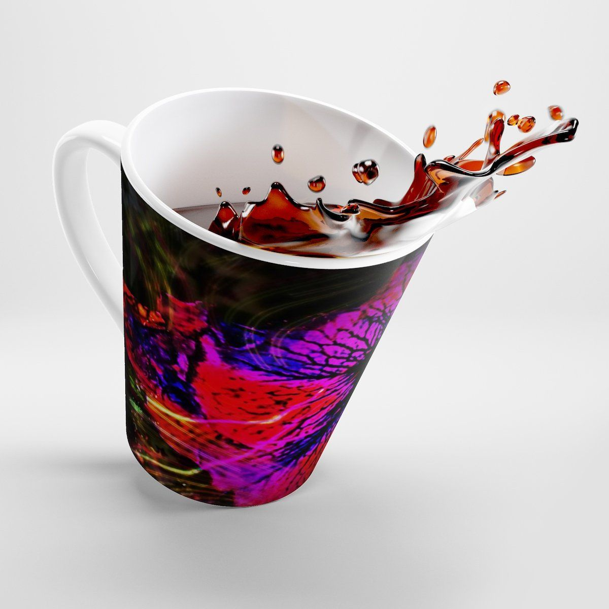 Purple Passion Latte Mug Designed By Crystal Keairnes By