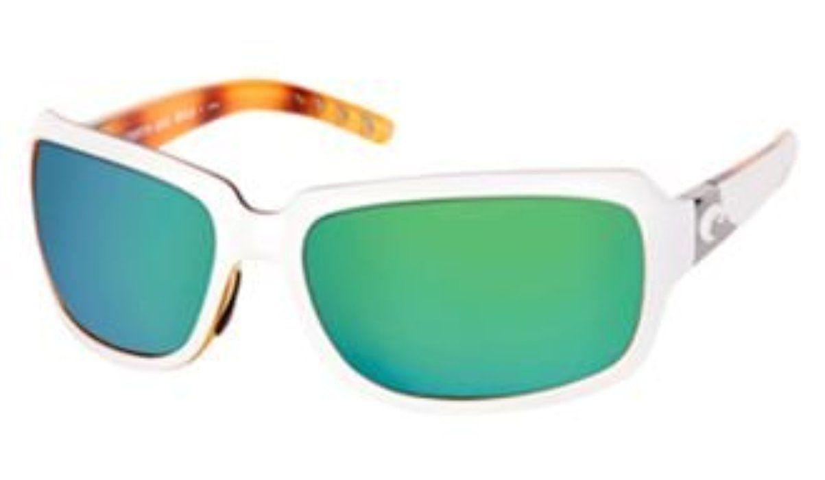 98d971bb1b Costa del Mar Isabela White Tortoise Green Polarized 580 Glass Lens  Sunglasses