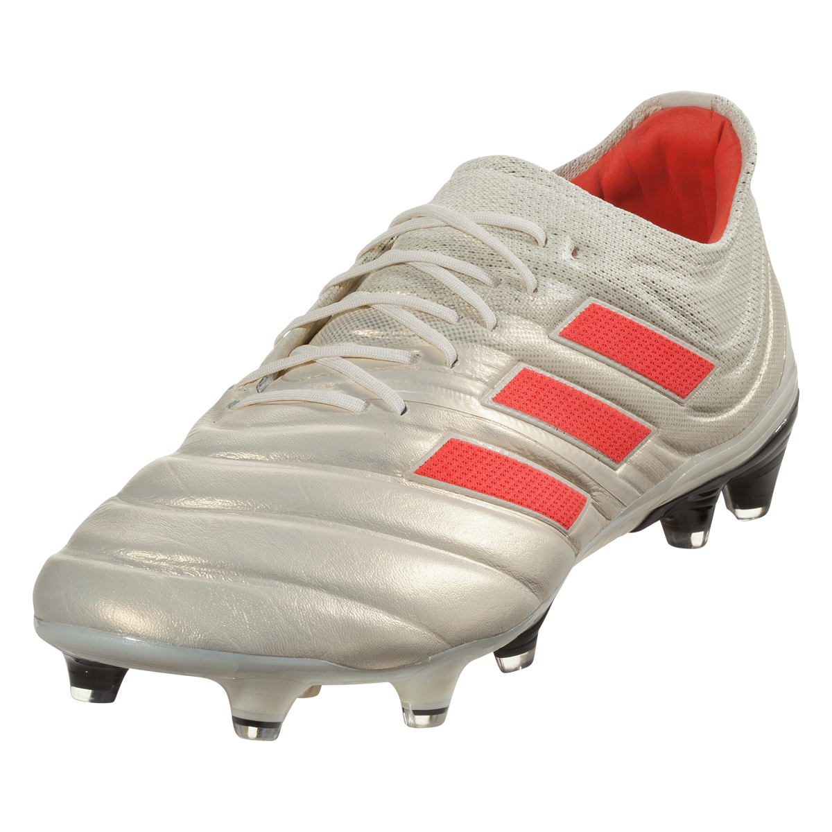 Adidas Copa 19 1 Fg Firm Ground Soccer Cleat Off White Solar Red Off White 9 5 Soccer Cleats Cleats Soccer