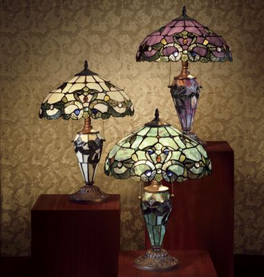 Magna Carta Stained Glass Double Lamp