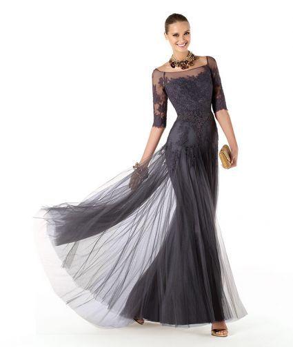 Vestido-de-fiesta-2014-para-dama-de-boda-en-color-gris-oscuro-con ...