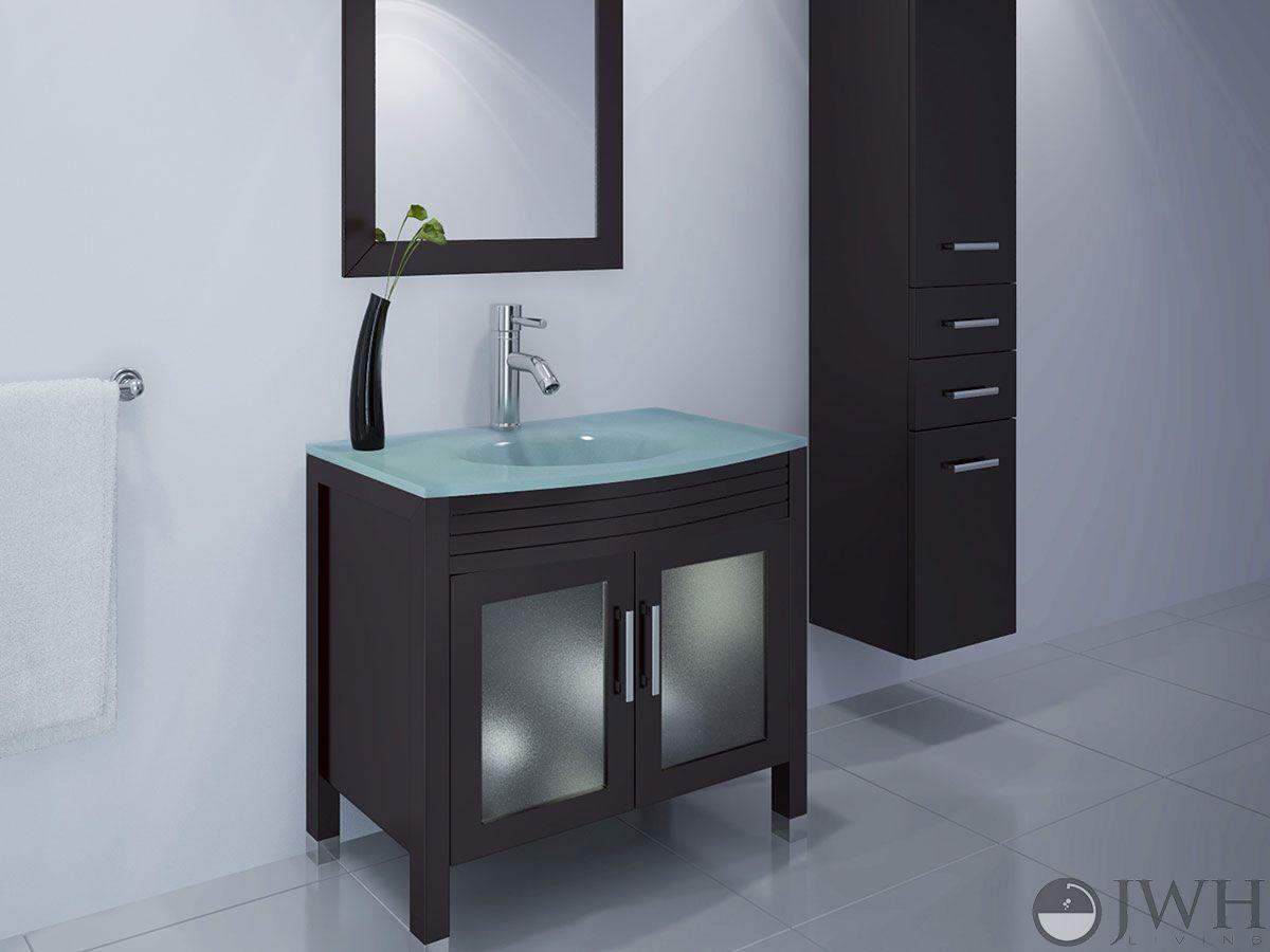 35 5 Ludwig Single Bath Vanity With Glass Top The Ludwig