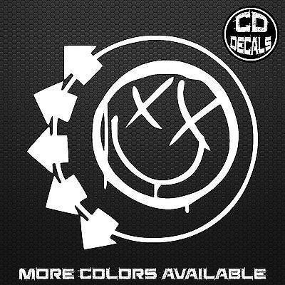Blink 182 Logo Smiley Face Vinyl Decal Sticker Car Laptop Band Merch Punk Rock Decals Stickers Vinyl Art Blink 182 Blink 182 Wallpaper Blink 182 Smiley