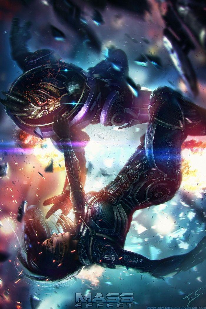 garrus, Commander Shepard, video games, Mass Effect,