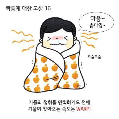 빠름에 대한 고찰 16 가을의 정취를 만긱하기도 전에 겨울이 찾아오는 속도는 WARP!