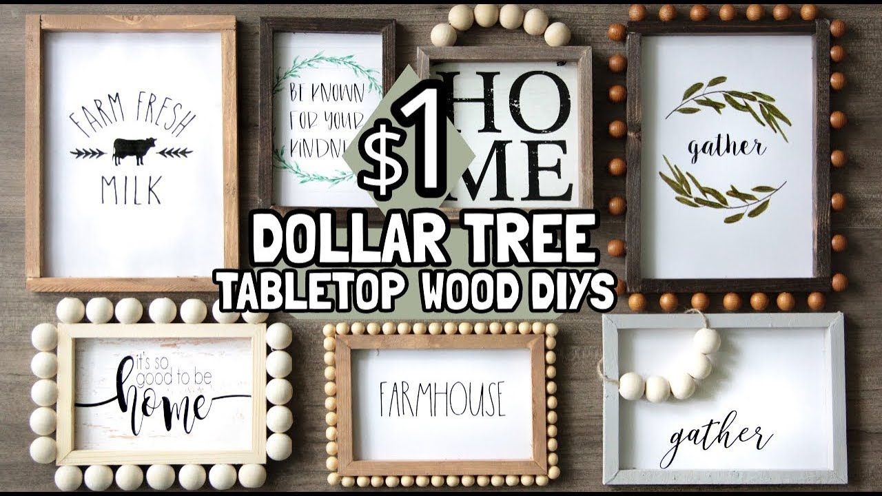 DOLLAR TREE TABLETOP WOOD DECOR DIYS